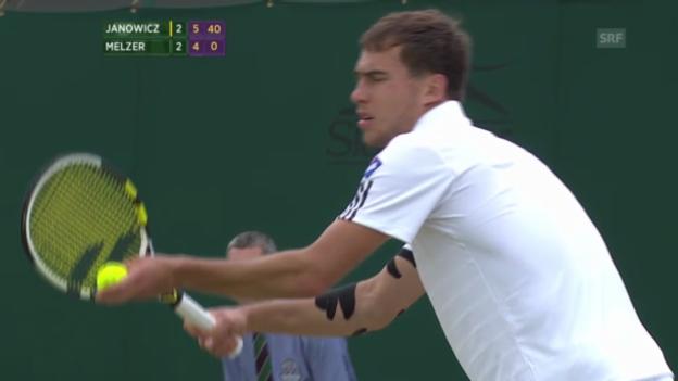 Video «Janowicz - Melzer: Der Matchball («sportlive»)» abspielen