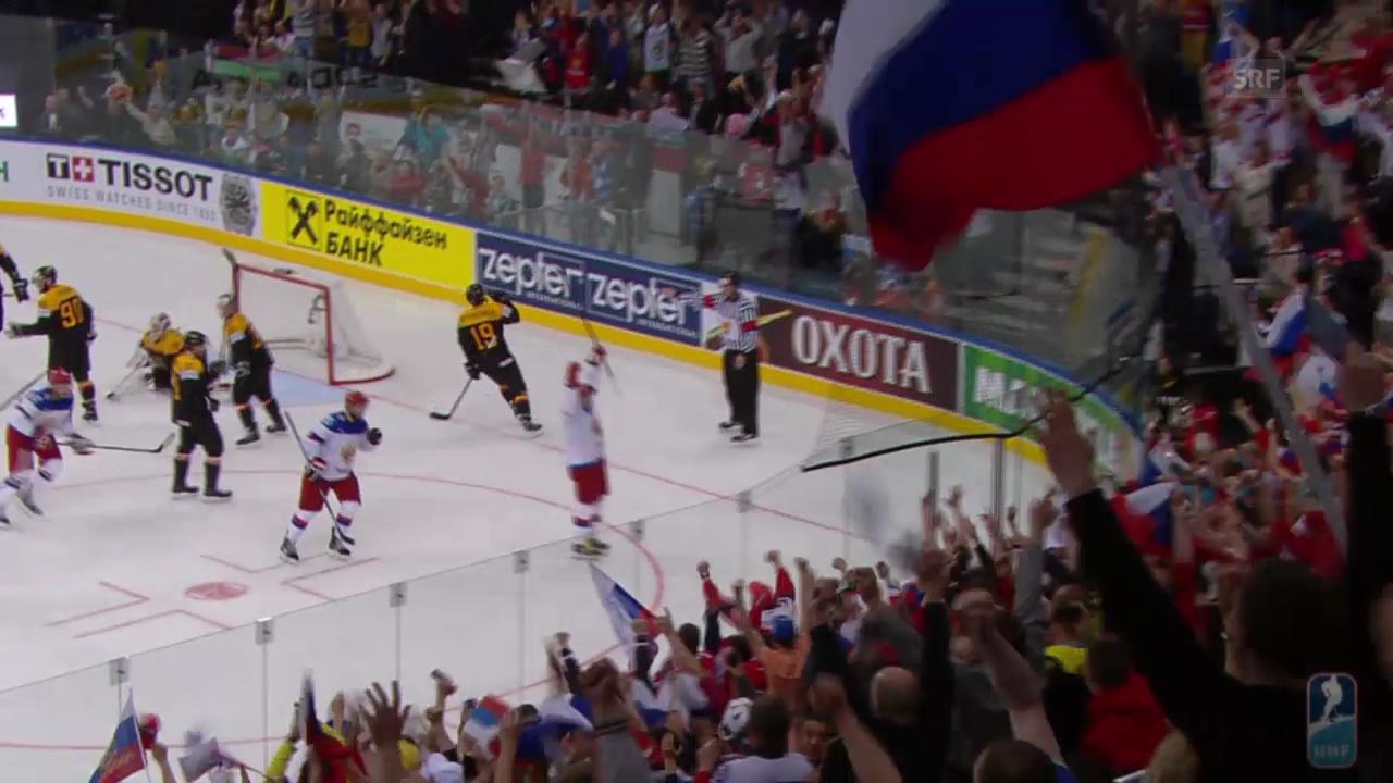 Eishockey: Tore bei Russland - Deutschland