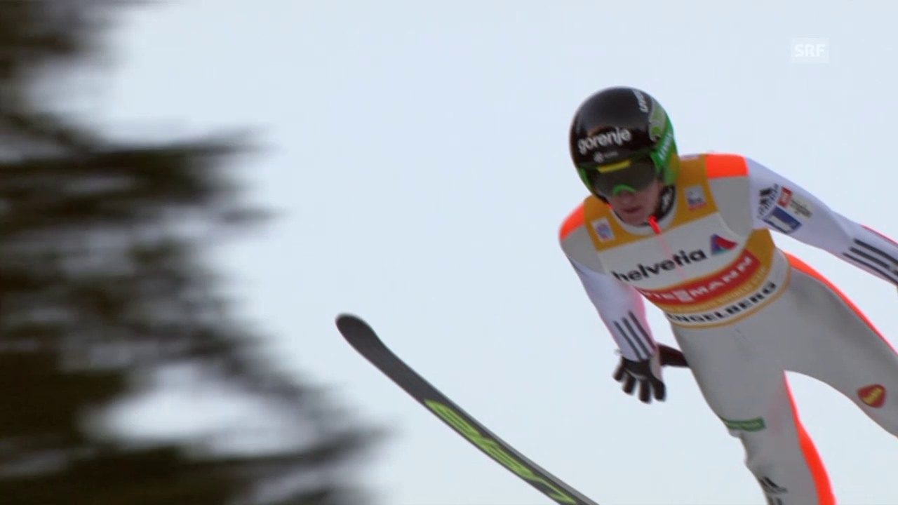 Skispringen: Engelberg, 20.12.2015, Peter Prevc, 1. Sprung