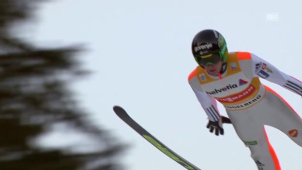 Video «Skispringen: Engelberg, 20.12.2015, Peter Prevc, 1. Sprung» abspielen