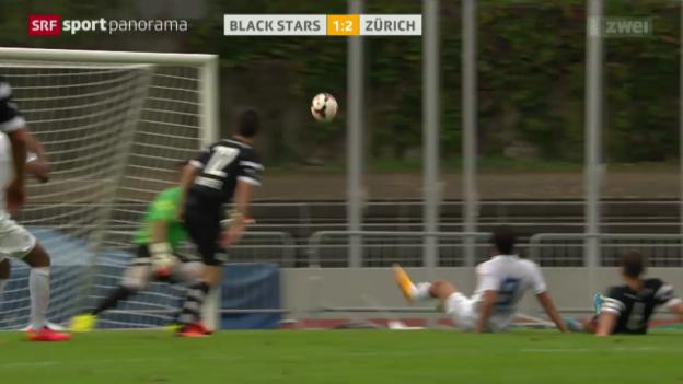 Video «Fussball: Schweizer Cup, Black Stars - Zürich» abspielen