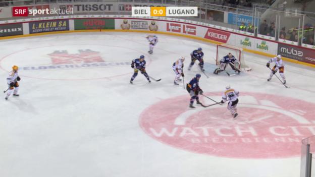 Video «Arbeitssieg von Lugano in Biel» abspielen