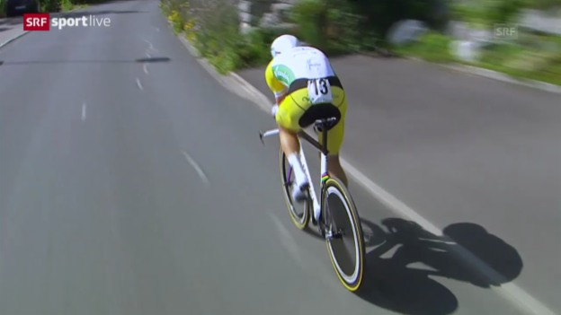 Video «Rad: Tour de Suisse, Zeitfahren in Worb, Zusammenfassung» abspielen