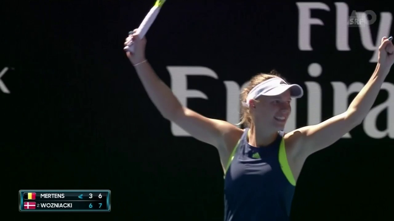Entscheidende Punkte bei Wozniacki gegen Mertens