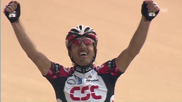 Video «Paris-Roubaix: Das erste Monument für Cancellara» abspielen