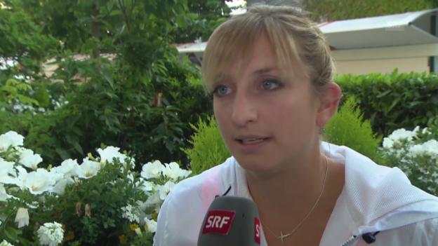 Video «Tennis: French Open, Interview mit Timea Bacsinzky» abspielen