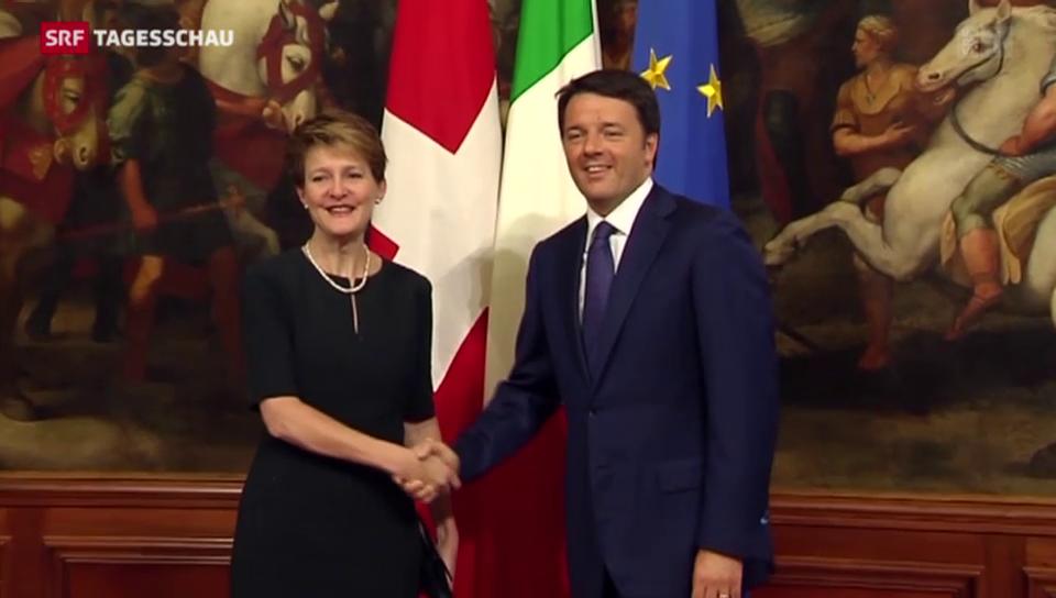 Sommaruga bei Renzi