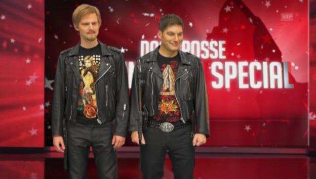 Video «Matthias Hüppi und Alain Sutter im Tanzduett» abspielen