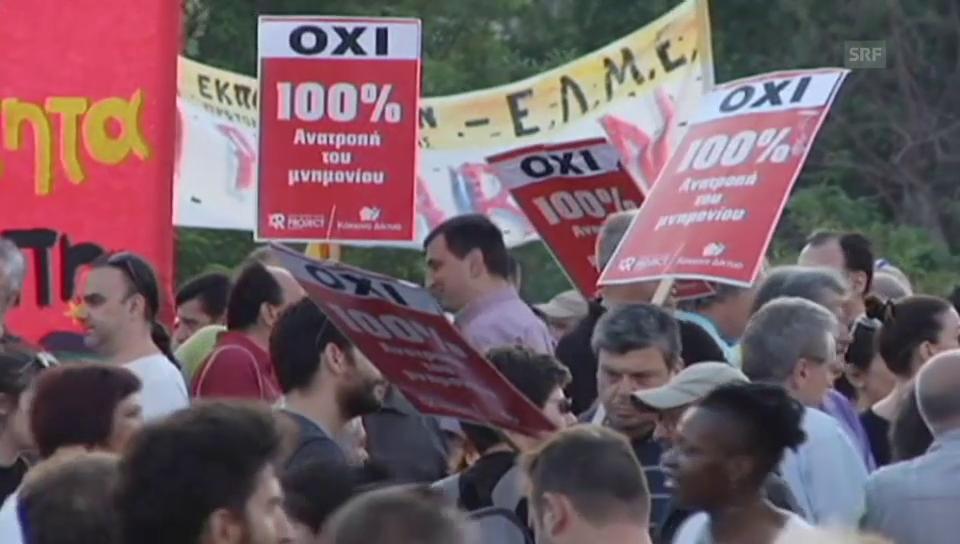 Proteste am Donnerstagmorgen in Athen (unkomm.)