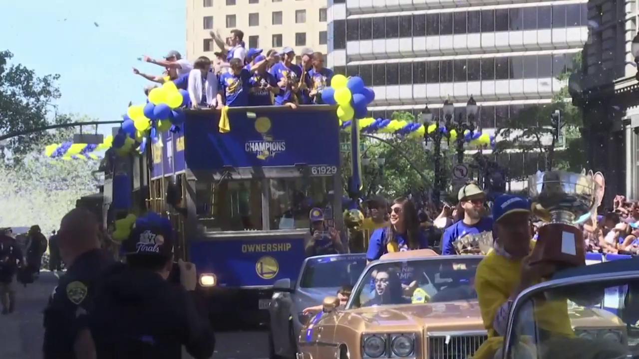 Die Siegerparade der Golden State Warriors