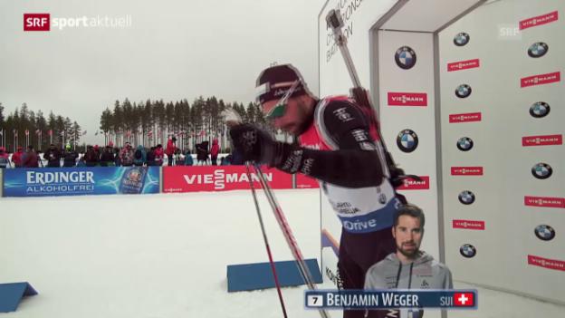 Video «Biathlon: Weger verpasst Top 10 im Sprint» abspielen