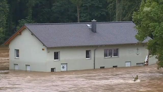 Steigende Pegelstände in Sachsen (D), 4.6.13