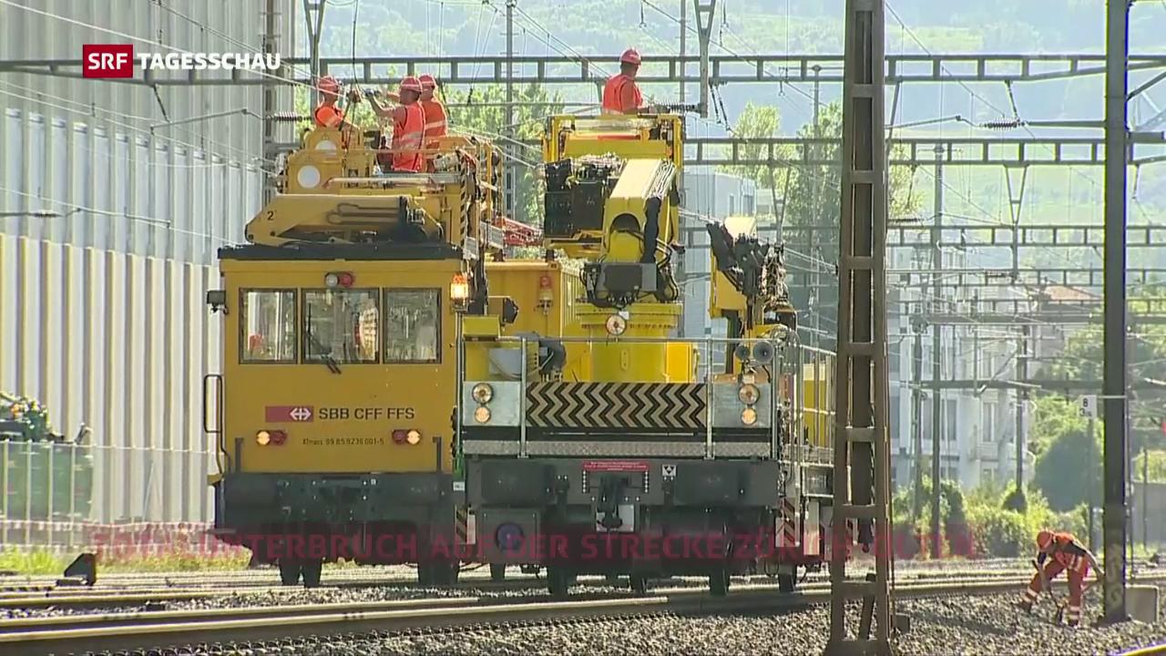 Fahrleitungsstörung beim Bahnhof Schlieren