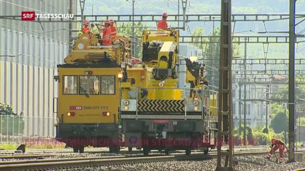 Video «Fahrleitungsstörung beim Bahnhof Schlieren» abspielen