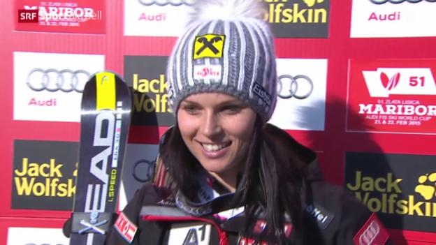 Video «Ski alpin: Riesenslalom der Frauen in Maribor» abspielen