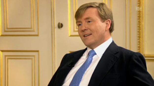 Video «Prinz Willem-Alexander über seine Rolle als König» abspielen