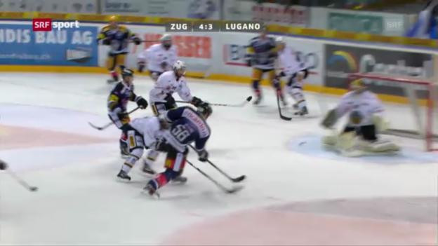 Video «Eishockey: Zug - Lugano («sportaktuell»)» abspielen