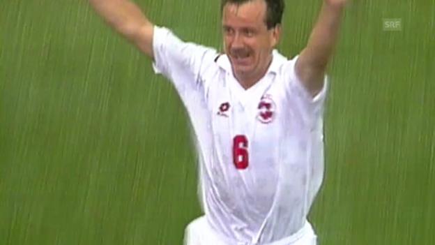 Video «Fussball-WM 1994: Tor von Georges Bregy» abspielen