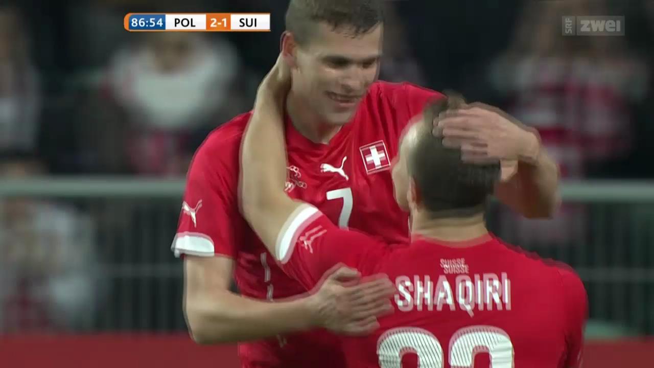Fussball: Länderspiel Polen - Schweiz