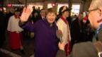 Video «Jubelfeiern für zwei neue Bundesrätinnen» abspielen