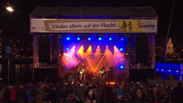 Video «Anna Känzig live bei «Jeder Rappen zählt»» abspielen