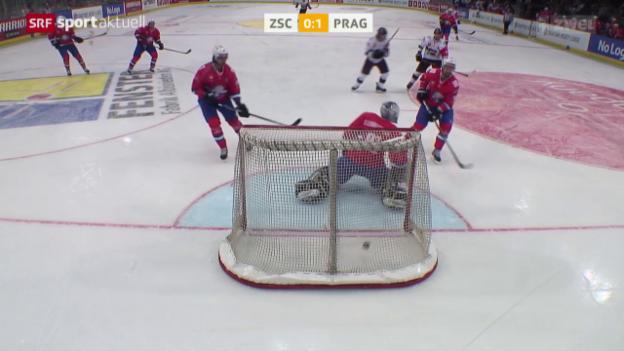 Video «Eishockey: CHL, ZSC-Sparta Prag» abspielen