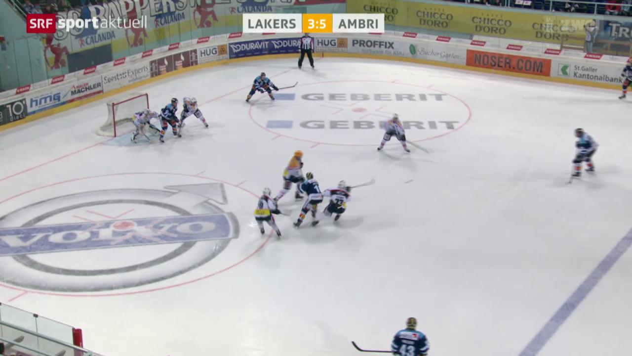 Eishockey: Playout-Final, Lakers - Ambri