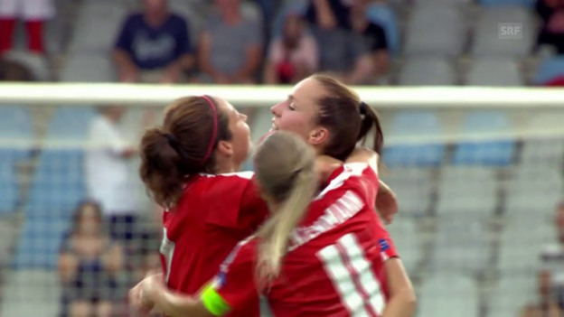 Video «Die Schweiz kämpft sich zum Sieg über Island» abspielen
