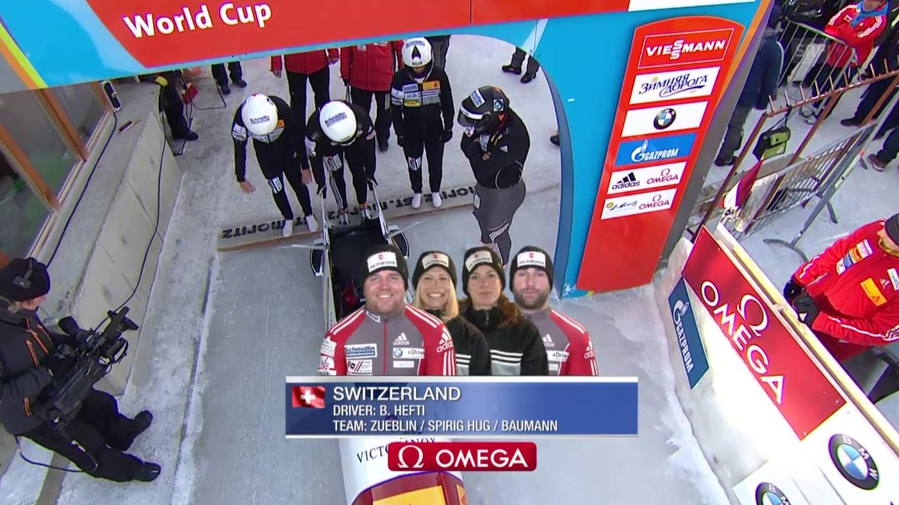 Bob: Viererbob St. Moritz, 1. Lauf Hefti