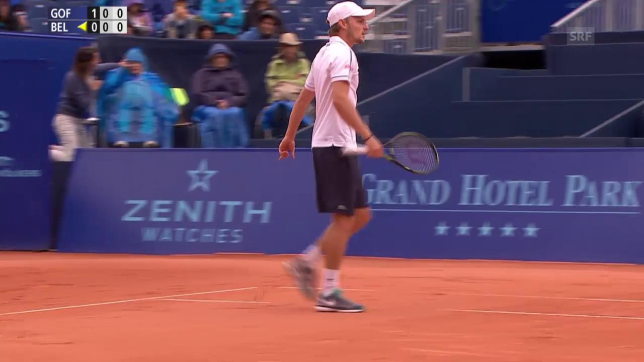 Tennis - Gstaad: Goffin-Bellucci, Satzball 1. Satz (01.08.2015)