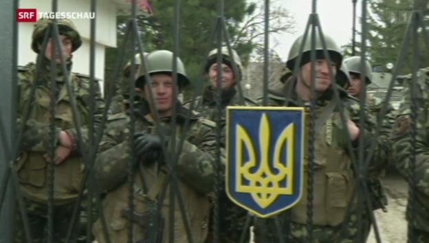 Video «Nervosität in der Ukraine hält an» abspielen