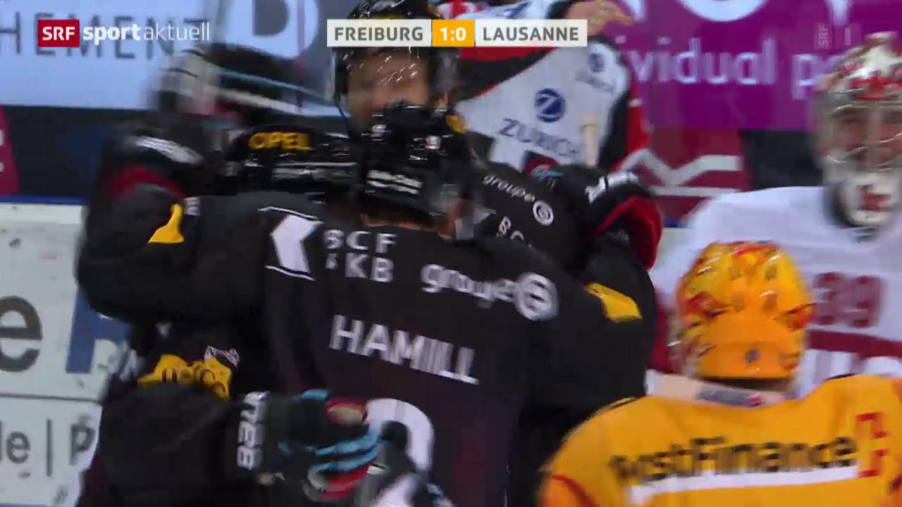 Eishockey: NLA, Freiburg - Lausanne