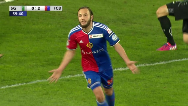Video «Fussball: Cup-Halbfinale FC St. Gallen - FC Basel, 3:0 Gashi» abspielen