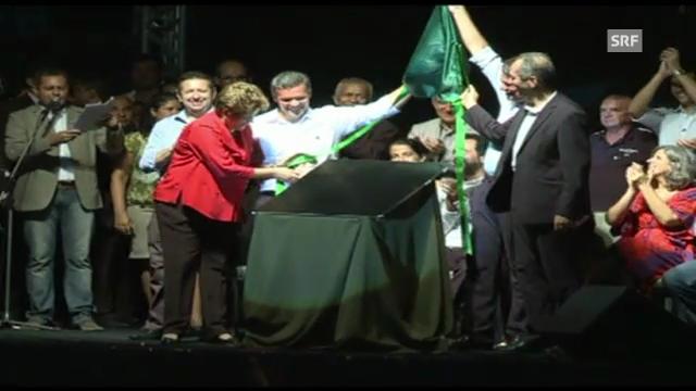 Einweihung des WM-Stadions Castelao in Fortaleza (unkommentiert).