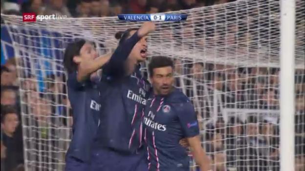 Video «Fussball: Champions League, Achtelfinal-Hinspiel, Valencia-Paris SG» abspielen