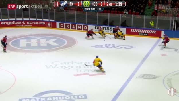 Video «Eishockey: Champions League, Helsinki - Davos» abspielen