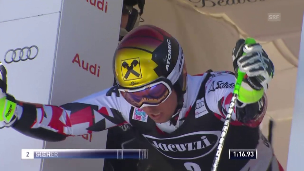 Ski: RS Beaver Creek, 2. Lauf Hirscher