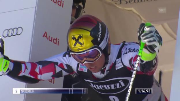 Video «Ski: RS Beaver Creek, 2. Lauf Hirscher» abspielen