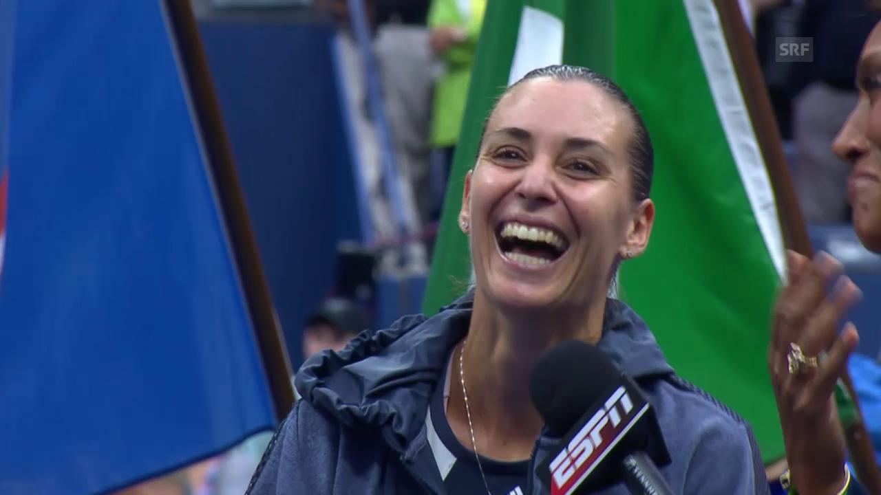 Tennis: US Open, Rücktritt Pennetta