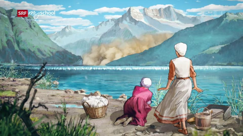 Ein Tsunami auf dem Genfersee
