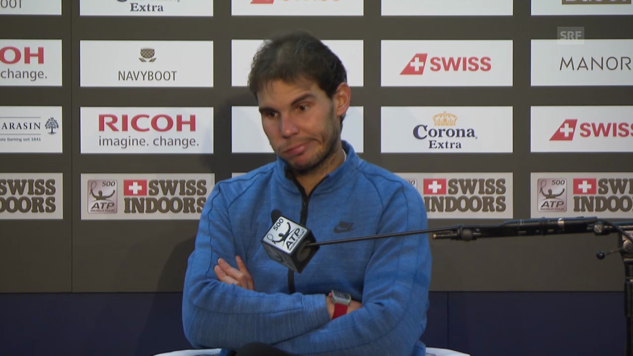 Tennis: Swiss Indoors, Medienkonferenz Nadal