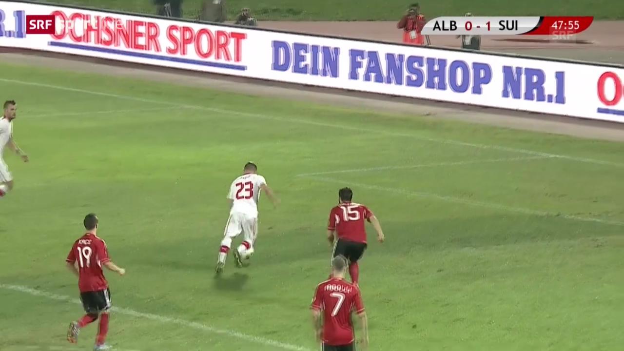 Fussball: Shaqiris 1:0 gegen Albanien