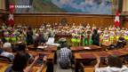 Video «Kinderchor von «Schwizergoofe» im Nationalratssal» abspielen