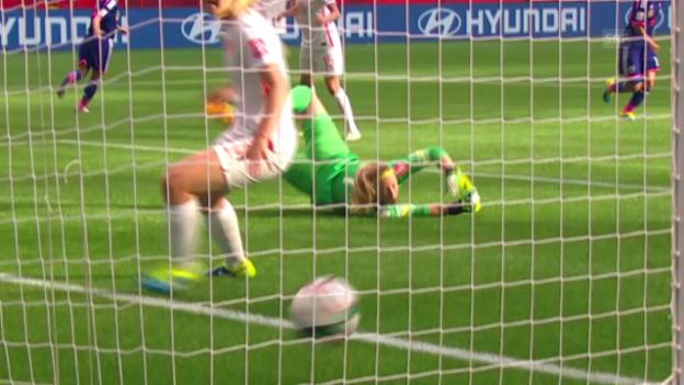 Video «Fussball: Frauen-WM, Zusammenfassung Achtelfinal Japan - Niederlande» abspielen