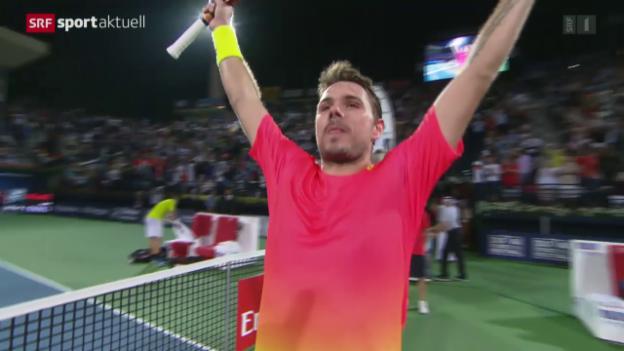 Video «Wawrinka holt in Dubai seinen 13. ATP-Titel» abspielen
