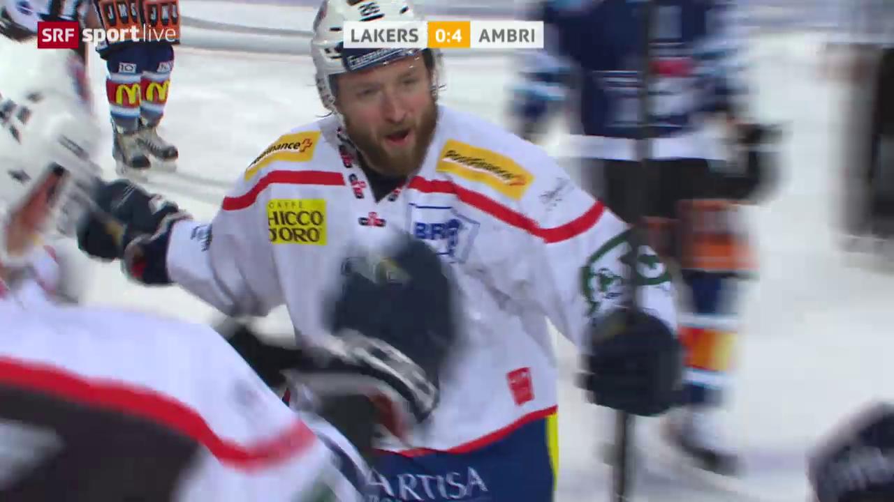 Eishockey: Playout, Lakers-Ambri