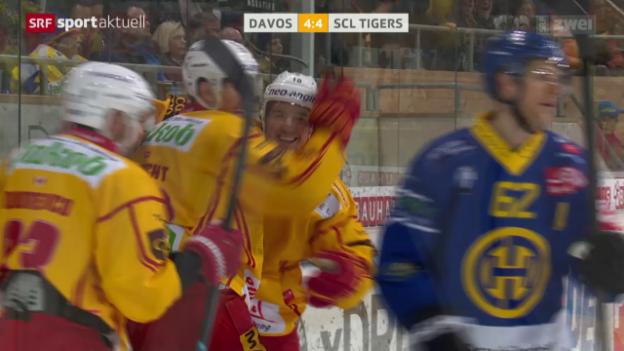 Video «Die SCL Tigers überraschen einmal mehr in Davos» abspielen