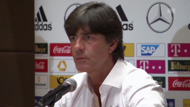 Video «Fussball: EM-Quali, Polen - Deutschland, Pressekonferenz mit Joachim Löw» abspielen
