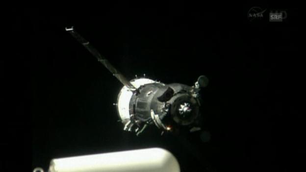 Video «Soyus bringt neue ISS-Besatzung (originalton)» abspielen