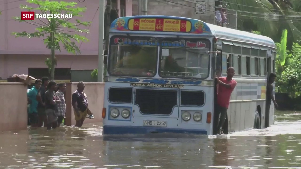 Überschwemmungen in Sri Lanka